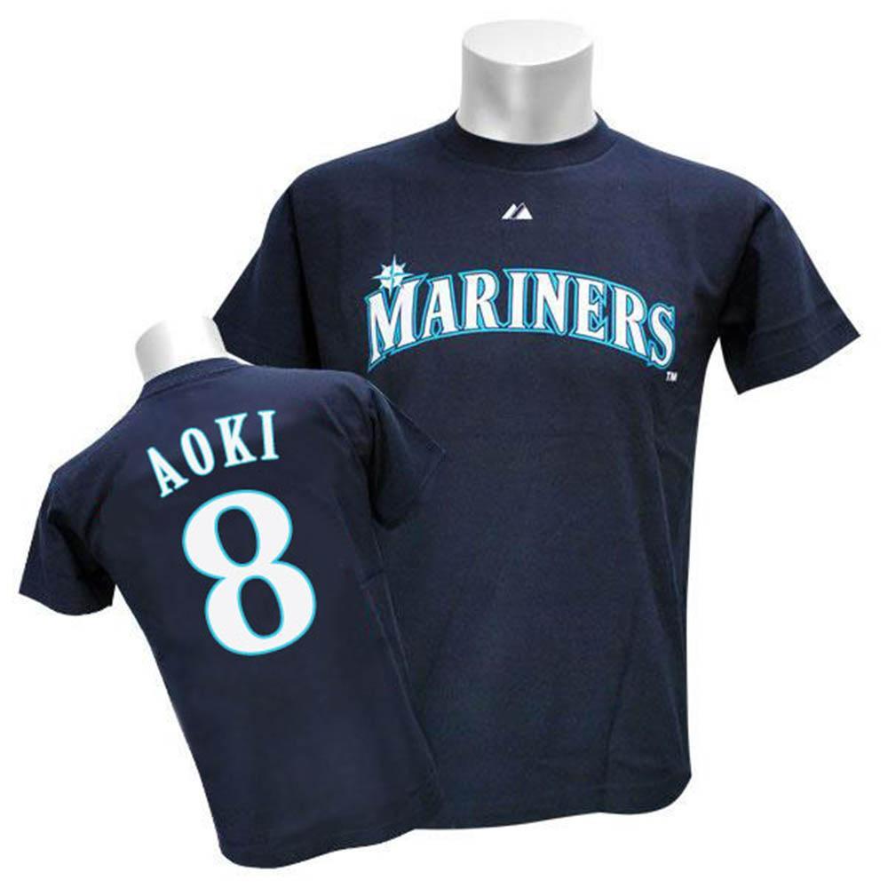 MLB マリナーズ 青木宣親 プレイヤー Tシャツ 日本バージョン マジェスティック/Majestic 特別セール