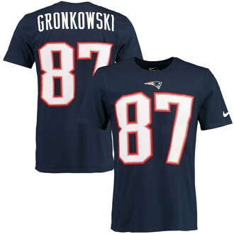 NFL愛國者羅布·guronkousukipureiyapuraidonemu&號碼T恤耐吉/Nike
