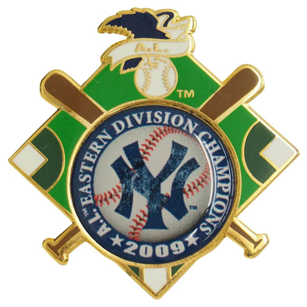 MLB ヤンキース ピンバッジ A.L. イースタン ディビジョン チャンピオンズ 2009 レアアイテム