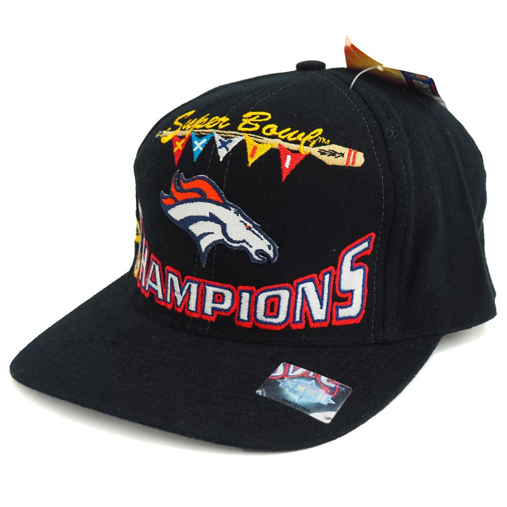 NFL ブロンコス 1998 スーパーボウル XXXII チャンピオン ロッカールーム キャップ/帽子 ブラック レアアイテム