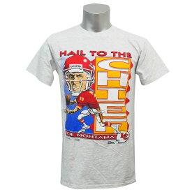 b1975bea8 NFL チーフス ジョー・モンタナ 1993 ヘイル・トゥ・ザ・チーフ Tシャツ セーラム