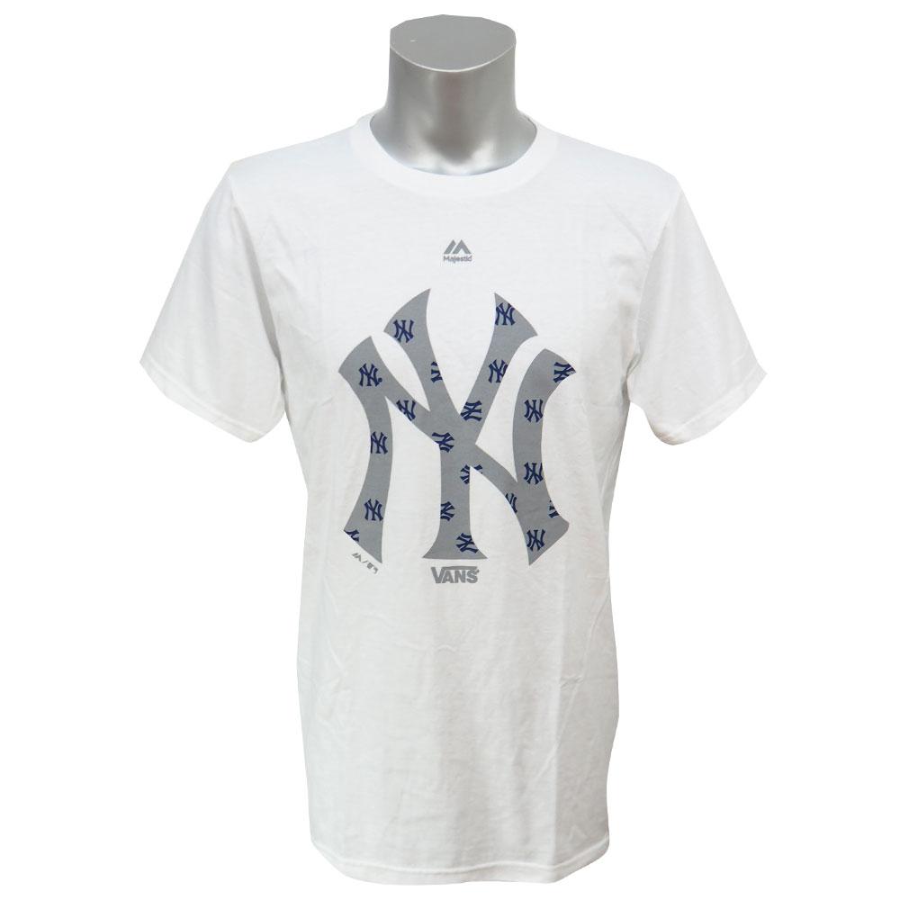 MLB ヤンキース Vans ロゴ フックアップ Tシャツ ヴァンズ/Vans ホワイト