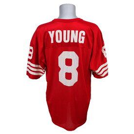 NFL 49ers スティーブ・ヤング レプリカユニフォーム Champion/チャンピオン レッド レアアイテム【1910価格変更】