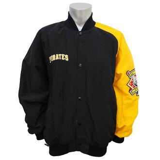 美国职棒大联盟海盗钻石收集独木舟风夹克起动器 /STARTER 黑色 / 黄色