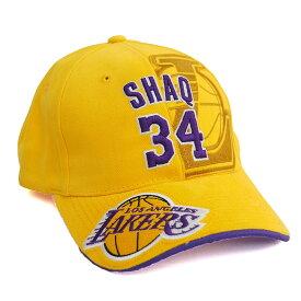 レイカーズ シャキール・オニール アジャスタブル キャップ/帽子 NBA イエロー
