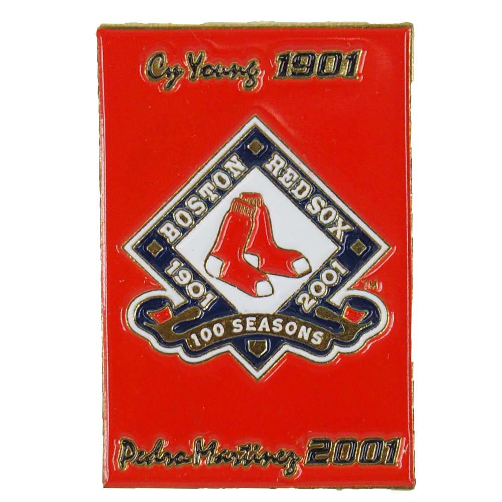 MLB レッドソックス ア・リーグ加盟 100周年記念 コカ・コーラ ピンバッジ Cy Young Pedro Mart?nez