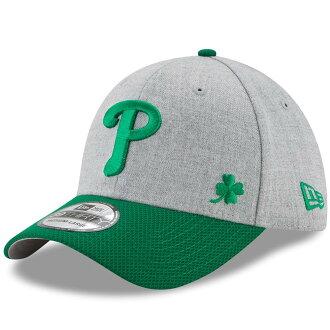 MLB Phillies cent Patrick's D 39THIRTY flextime cap new gills /New Era Heather gray / Kelly green