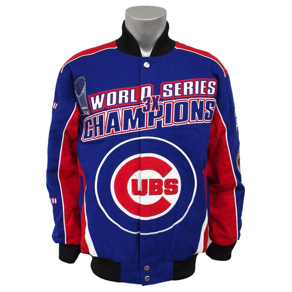 MLB カブス ワールドシリーズ チャンピオン コメモラティブ コットンツイル ジャケット ジースリー/G-III