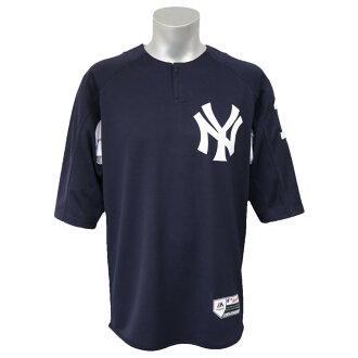 MLB揚基隊田中將大確實的開場BP制服Majestic/Majestic深藍