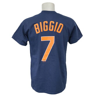 MLB Astros Craig Biggio Cooperstown name & number T-shirt majestic /Majestic navy