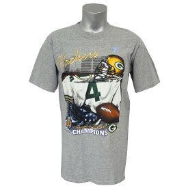 NFL パッカーズ ブレット・ファーブ 第31回 スーパーボウル 優勝記念 Tシャツ Super Bowl XXXI リースポーツ/Lee Sports グレー レアアイテム
