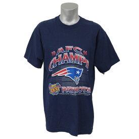 NFL ペイトリオッツ 1996 AFC カンファレンス チャンピオン記念 Tシャツ アーテックス/Artex ネイビー レアアイテム【1910価格変更】