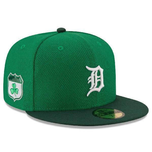お取り寄せ MLB タイガース 2017 セントパトリックスデー ダイアモンドエラ 59FIFTY キャップ/帽子 ニューエラ/New Era グリーン