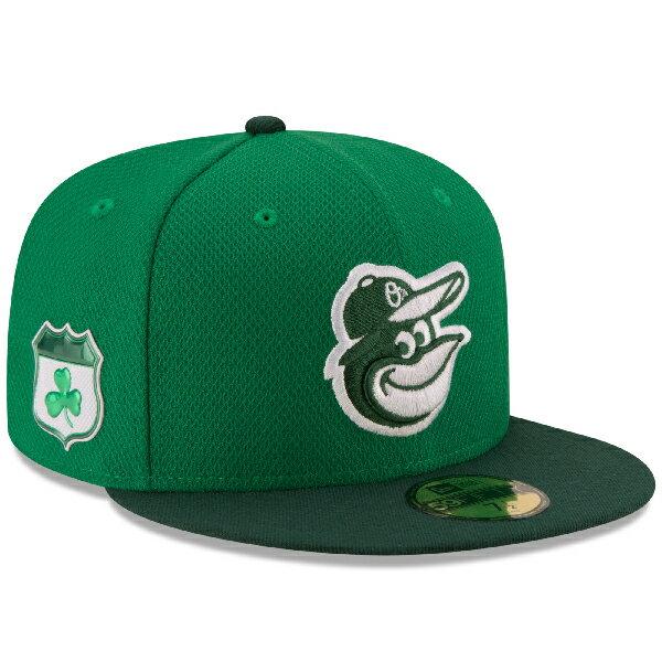 お取り寄せ MLB オリオールズ 2017 セントパトリックスデー ダイアモンドエラ 59FIFTY キャップ/帽子 ニューエラ/New Era グリーン