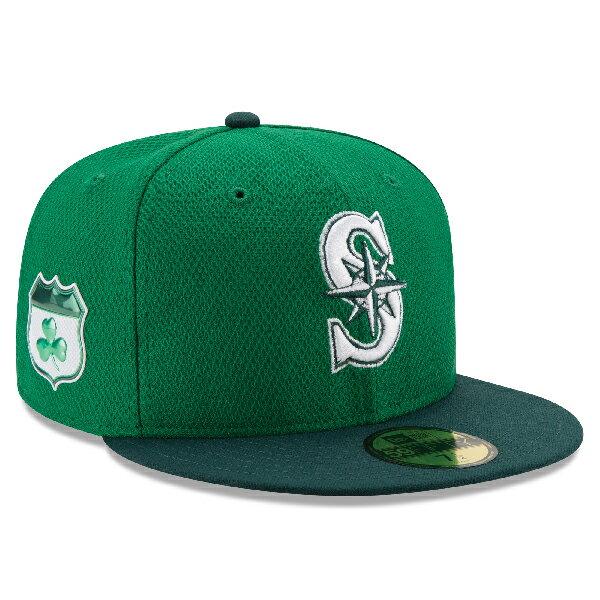 お取り寄せ MLB マリナーズ 2017 セントパトリックスデー ダイアモンドエラ 59FIFTY キャップ/帽子 ニューエラ/New Era グリーン