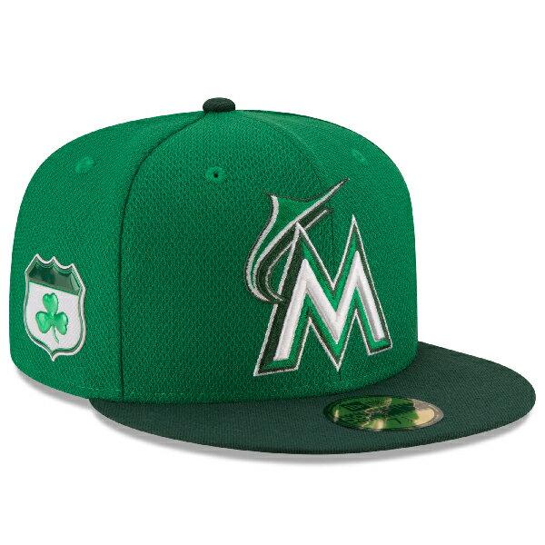 お取り寄せ MLB マーリンズ 2017 セントパトリックスデー ダイアモンドエラ 59FIFTY キャップ/帽子 ニューエラ/New Era グリーン