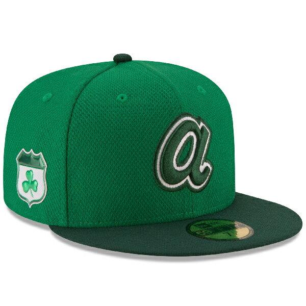 お取り寄せ MLB ブレーブス 2017 セントパトリックスデー ダイアモンドエラ 59FIFTY キャップ/帽子 ニューエラ/New Era グリーン