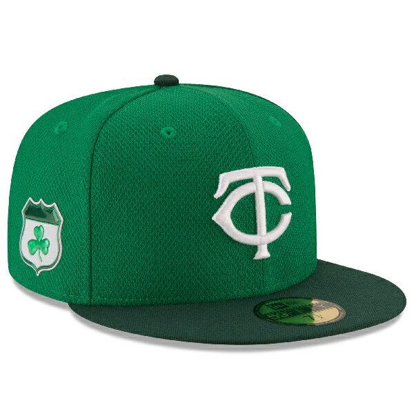 お取り寄せ MLB ツインズ 2017 セントパトリックスデー ダイアモンドエラ 59FIFTY キャップ/帽子 ニューエラ/New Era グリーン