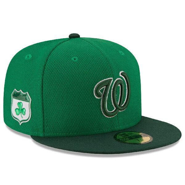 お取り寄せ MLB ナショナルズ 2017 セントパトリックスデー ダイアモンドエラ 59FIFTY キャップ/帽子 ニューエラ/New Era グリーン