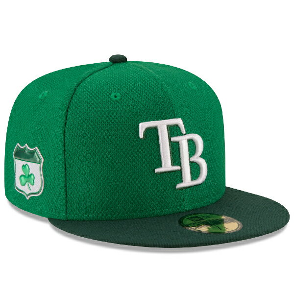 お取り寄せ MLB レイズ 2017 セントパトリックスデー ダイアモンドエラ 59FIFTY キャップ/帽子 ニューエラ/New Era グリーン