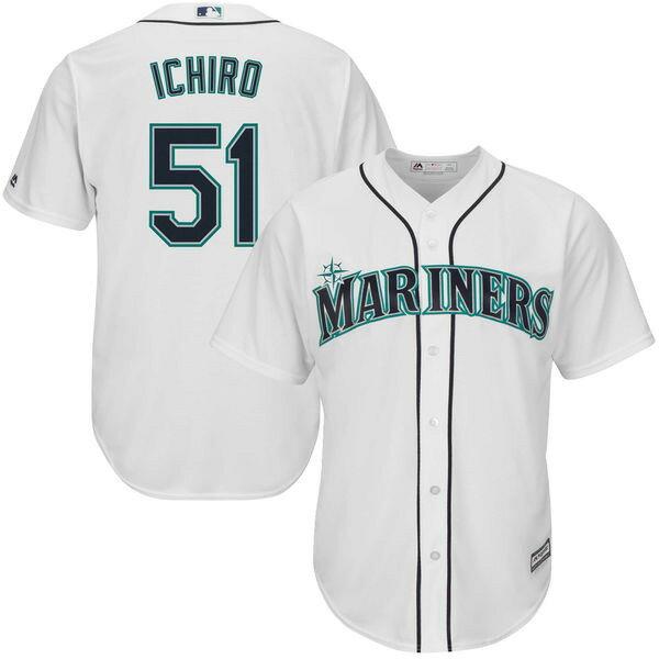 MLB マリナーズ イチロー ホーム オフィシャル クールベース ユニフォーム マジェスティック/Majestic ホワイト