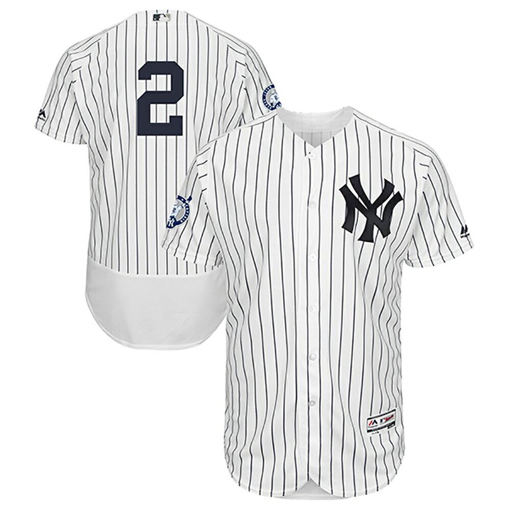 MLB ヤンキース デレク・ジーター ナンバーリタイアメント オーセンティック フレックスベース ユニフォーム マジェスティック/Majestic ホーム