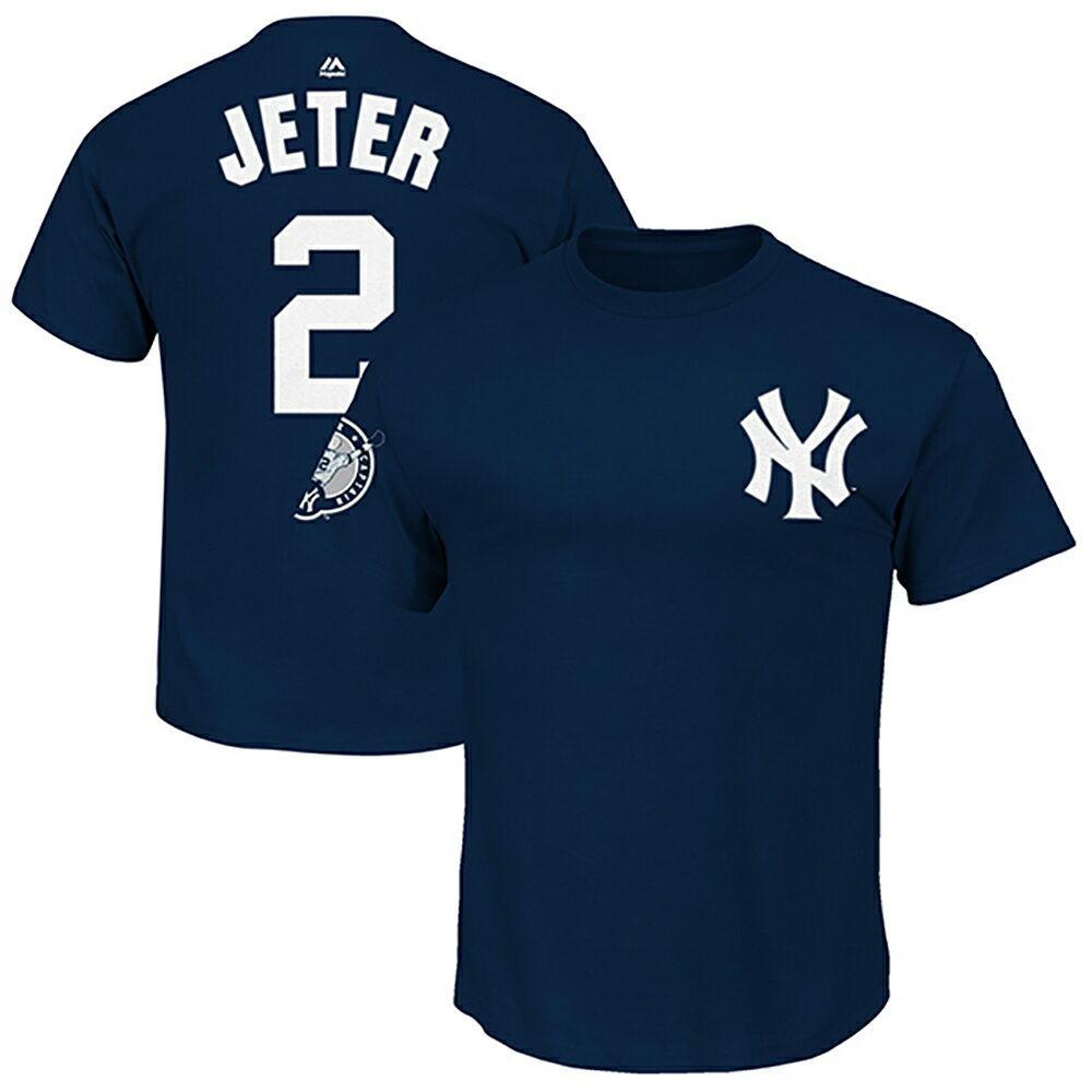 MLB ヤンキース デレク・ジーター ナンバーリタイアメント ネーム&ナンバー Tシャツ マジェスティック/Majestic ネイビー