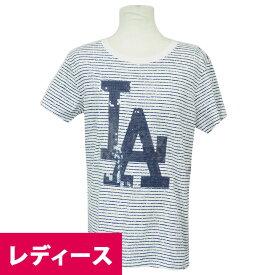 MLB ドジャース スパークル ストライプ レディース Tシャツ 47ブランド/47 Brand ホワイト