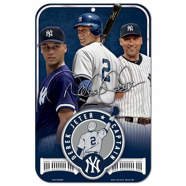 MLB ヤンキース デレク・ジーター 永久欠番 記念 プラスチック ボード ウィンクラフト/WinCraft