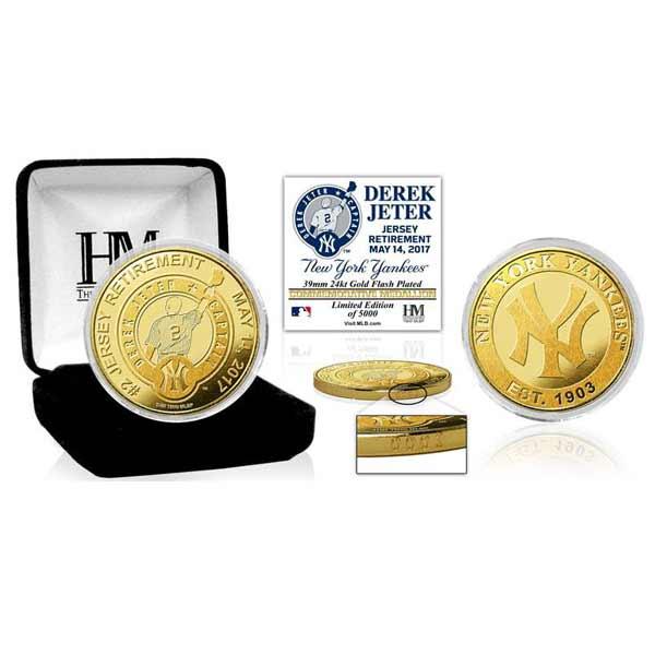 お取り寄せ MLB ヤンキース デレク・ジーター 永久欠番 記念 ゴールドコイン ミント ハイランドミント/The Highland Mint