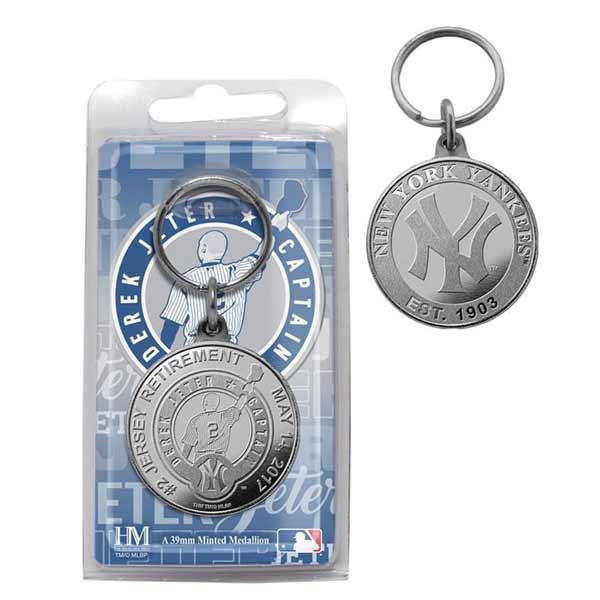 お取り寄せ MLB ヤンキース デレク・ジーター 永久欠番 記念 コイン キーホルダー ハイランドミント/The Highland Mint
