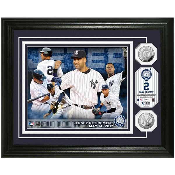 お取り寄せ MLB ヤンキース デレク・ジーター 永久欠番 記念 シルバーコイン コメモラティブ フォトミント ハイランドミント/The Highland Mint
