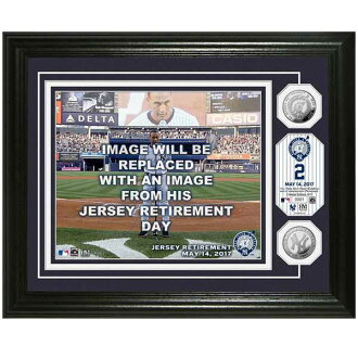 Order MLB Yankees Derek Jeter permanently retired uniform number memory ceremony silver coin photo mint highland mint /The Highland Mint