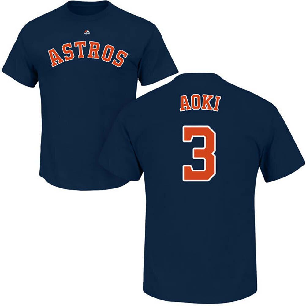 MLB アストロズ 青木宣親 プレイヤー Tシャツ (日本サイズ) マジェスティック/Majestic ネイビー 特別セール