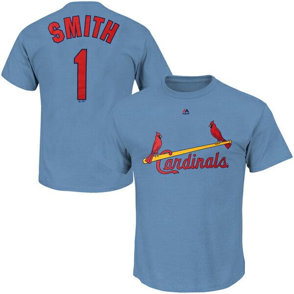 お取り寄せ MLB カージナルス オジー・スミス クーパーズタウン ネーム&ナンバーTシャツ マジェスティック/Majestic ライトブルー