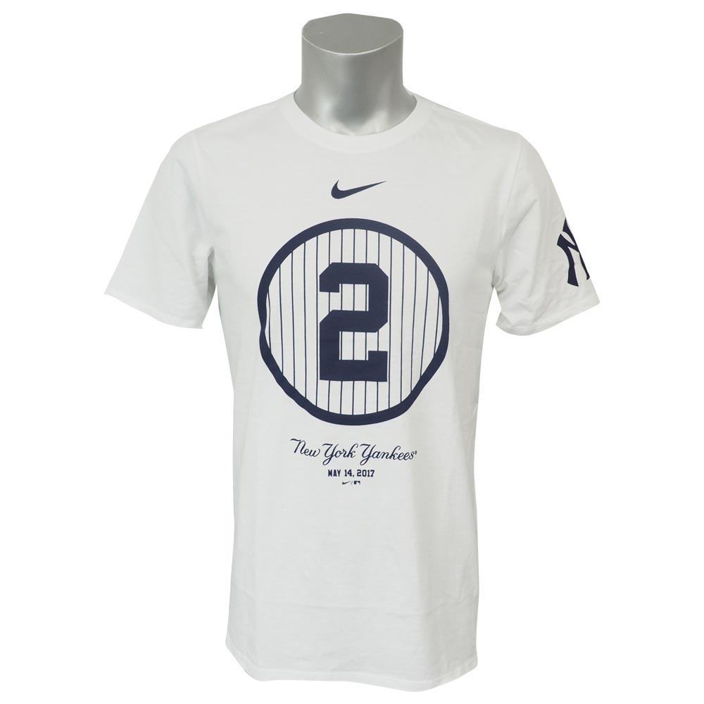 MLB ヤンキース デレク・ジーター 永久欠番記念 スウッシュ 2 コットン Tシャツ ナイキ/Nike ホワイト 37070X