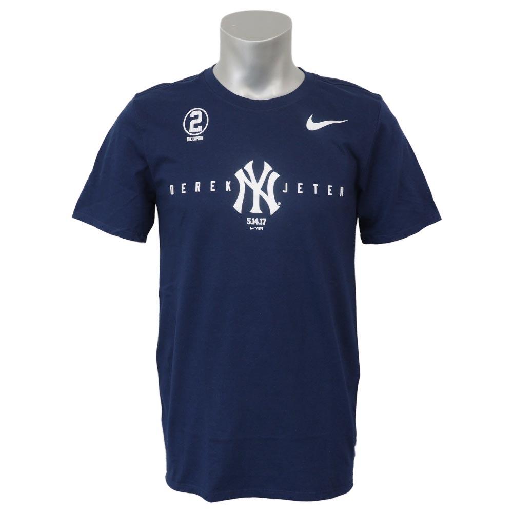 MLB ヤンキース デレク・ジーター 永久欠番記念 スウッシュ NY コットン Tシャツ ナイキ/Nike ネイビー 37071X