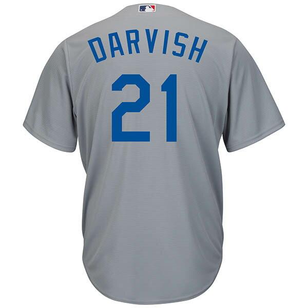 MLB ドジャース ダルビッシュ有 クールベース プレイヤー レプリカ ゲーム ユニフォーム マジェスティック/Majestic オルタネート グレー