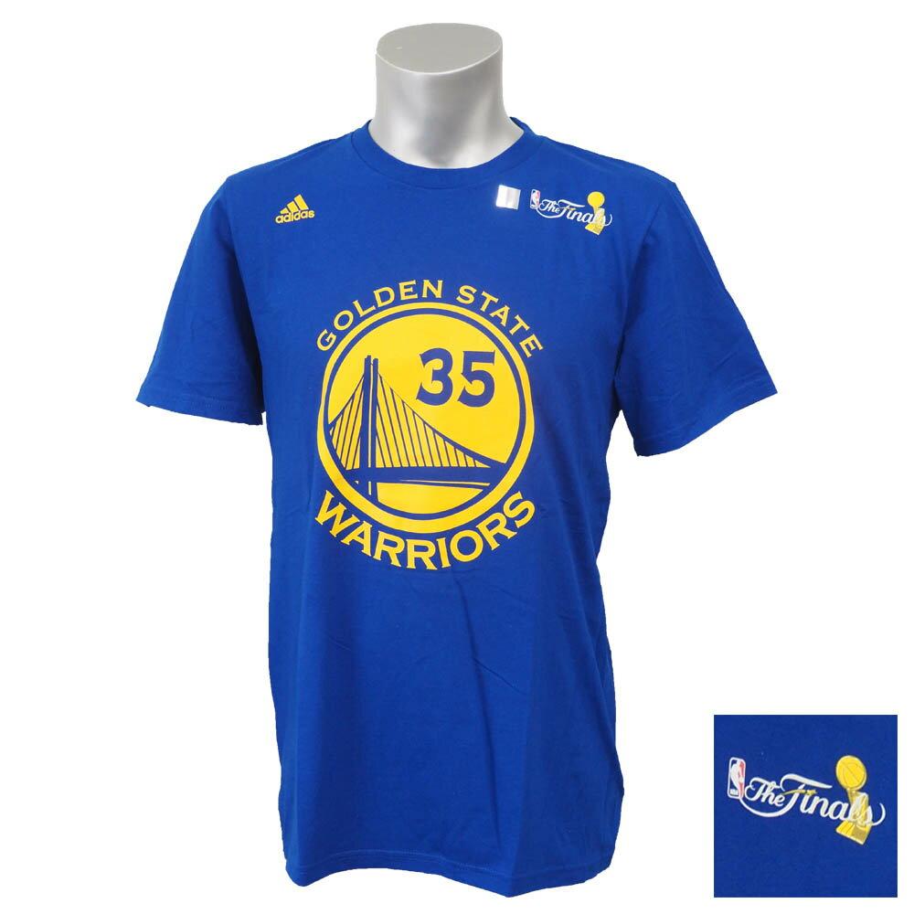 【セール】NBA ウォリアーズ ケビン・デュラント 2017 ファイナル優勝記念 レプリカ ネーム&ナンバー Tシャツ アディダス/Adidas