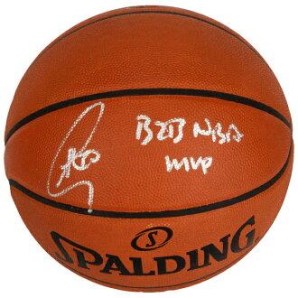 有訂購的NBA戰士斯蒂芬·鉀親筆簽名的專業皮革籃球斯波爾丁/SPALDING