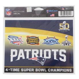 NFL ペイトリオッツ 4Time スーパーボウル チャンピオン ステッカー ウィンクラフト/WinCraft【1910価格変更】