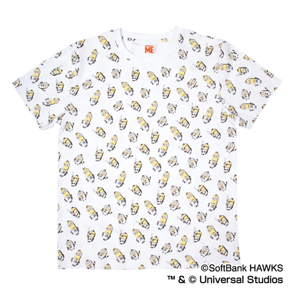 福岡ソフトバンクホークス グッズ ミニオン コラボ 総柄 Tシャツ スペースエイジ/Space Age