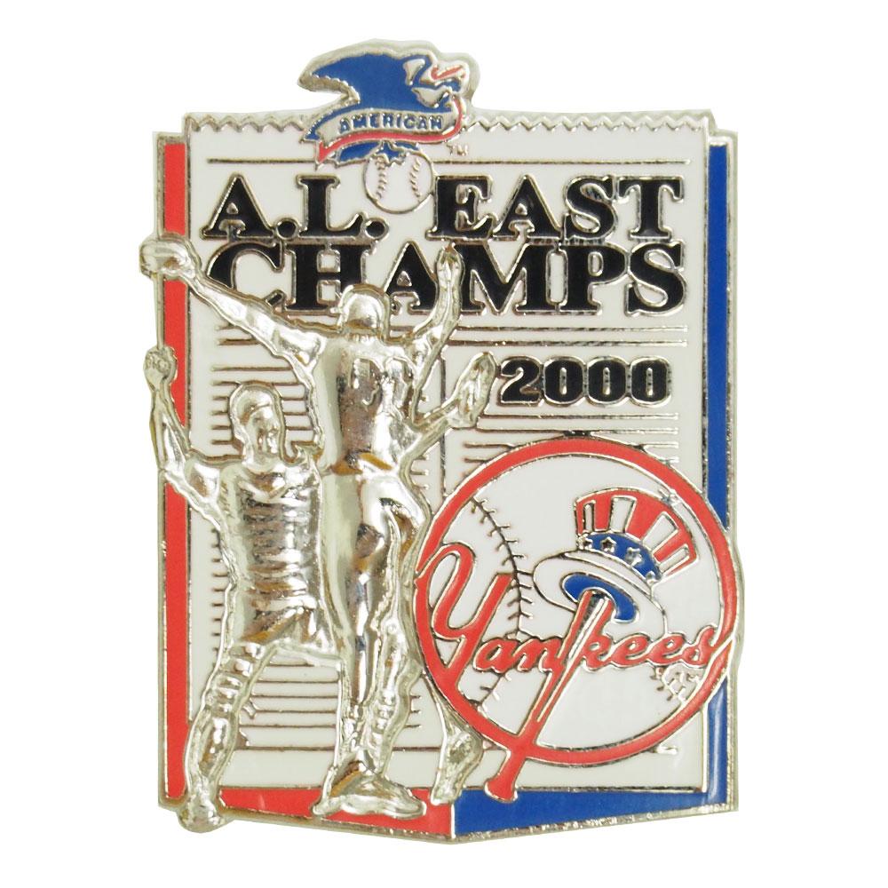 MLB ヤンキース ア・リーグ 東地区 チャンピオン 2000 記念 ピンバッジ レアアイテム