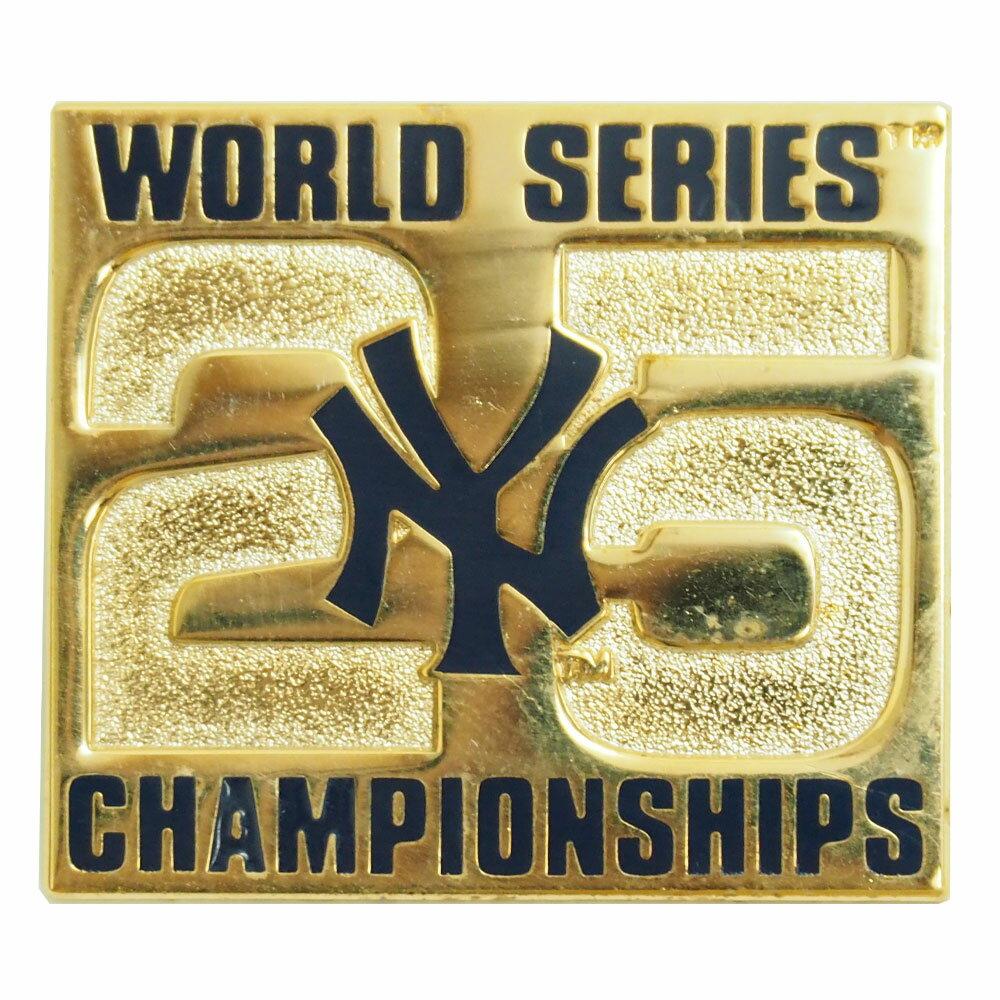 MLB ヤンキース ワールドシリーズ チャンピオン 25th 記念 ピンバッジ レアアイテム