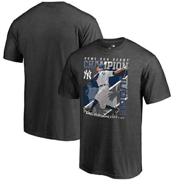 お取り寄せ MLB ヤンキース アーロン・ジャッジ 2017 オールスター ホームランダービー チャンピオン Tシャツ グレー