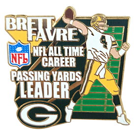 NFL パッカーズ ブレット・ファーブ キャリア パッシング ヤーズ リーダー 記念 ピンバッジ レアアイテム