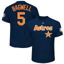 お取り寄せ MLB アストロズ ジェフ・バグウェル 2017 ホール・オブ・フェイム パッチ ネーム&ナンバー Tシャツ マジェスティック/Majestic