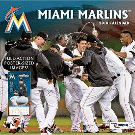 MLB マーリンズ 2018 チーム ウォール カレンダー ターナー/Turner【セール】【1910価格変更】