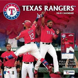 MLB レンジャーズ 2018 チーム ウォール カレンダー ターナー/Turner【セール】【1910価格変更】