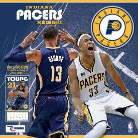 NBA ペイサーズ 2018 チーム ウォール カレンダー ターナー/Turner【セール】【1910価格変更】